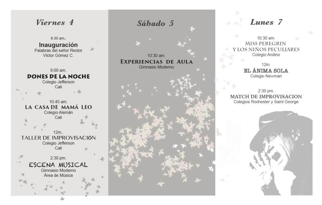 Programación 35 Festival de Teatro Agustín Nieto Caballero